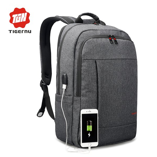 2018 Tigernu Anti-thief USB bagpack 15.6inch laptop backpack for women Men school backpack Bag for boy girls Male Travel Mochila