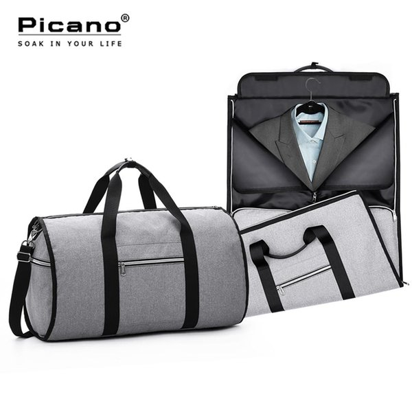 Travel Garment Bag 2 In 1 Men Weekend Bag Suitcase Suit Business Travel Organizer Foldable Shoulder Trip Luggage Pack PCN062