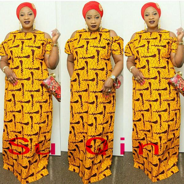 marque de mode en vrac maxi dashiki robe bazin impression élastique de style africain, plus la taille femmes robes