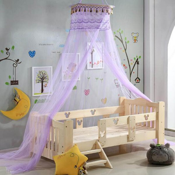 Romantic Mosquito Net For Baby Bed Hung Lace With Tassels Canopy Insect net Circular Decoration ciel de lit Mosquitero para cama