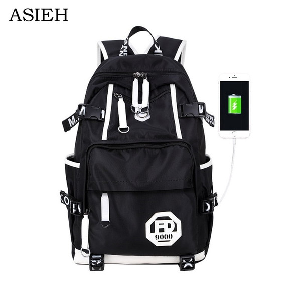 Brands Oxford schoolbag Black USB Charging Laptop bag 17.3 Backpack School boys waterproof schoolbag woman rucksacks 2018