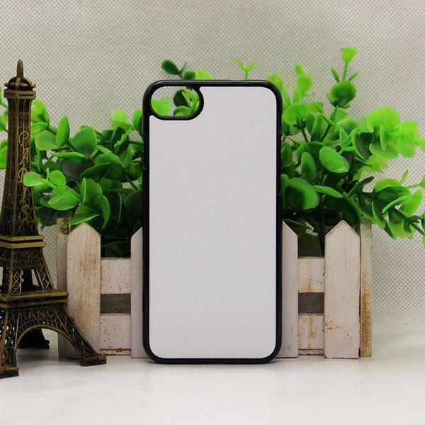 Para samsung s10 iphone 9 plus x 6 s 7 8 mais 2d caixa de plástico rígido para samsung s8 s9 nota 8 nota 9 2D sublimação em branco caso com placa de Metal