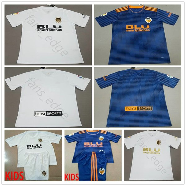 brand new 5b965 8f3e2 2018 2018 2019 Valencia Cf Soccer Jersey Zaza Parejo G.Guedes C.Soler Gaya  Mina Vietto Rodrigo Custom Blue White Adult Kids Football Shirt From ...