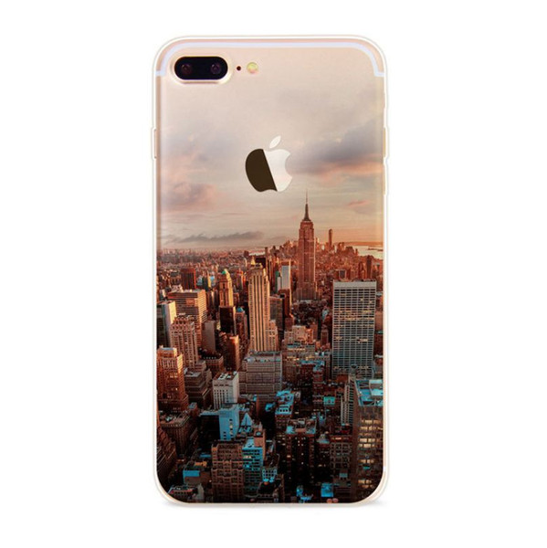 New Fashion Painted picture Chinese style creative Phone Case For iPhone 6 7 plus tpu soft Cases Back Cover For iPhone X 8