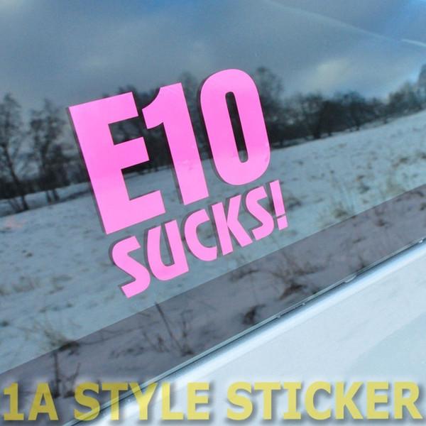 Car styling for E 10 Sucks E10 Sticker Haters DUB Turbo G-Lader Kompressor RS Line