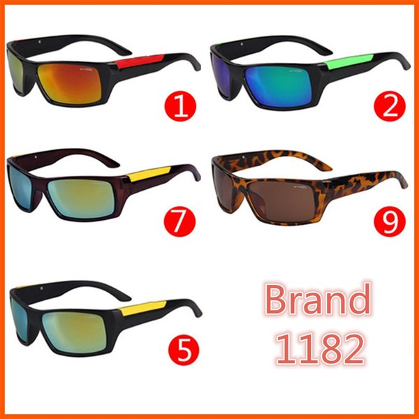 top popular 5 Colors Sports Bright Reflective Sunglasses Fashion Sunglasses A, N, T03 Reflective Riding Sunglasses Free shipping 2019