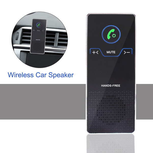 Wireless Car Speaker Hands Free Bluetooth Speakerphone Set With Air Vent And Sun Visor Bracket HD Stereo Audio Player For IOS/Android Phone