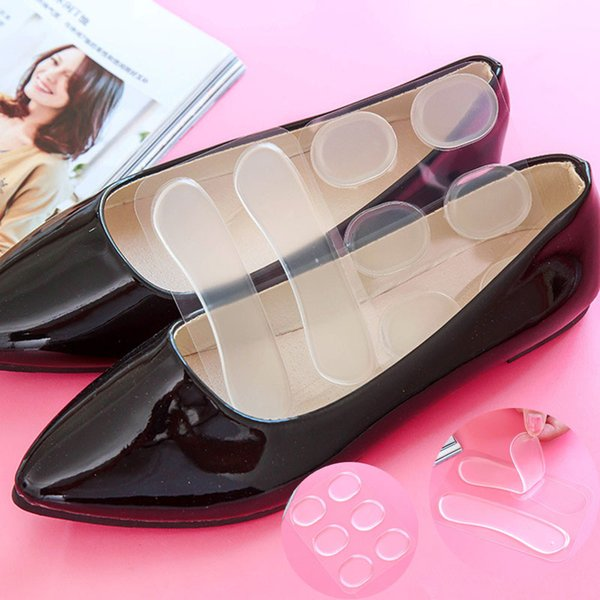 2 Styles Anti Slip Gel Pads Foot Care Protector for Heel Rubbing Cushion Pad Shoes Silicone Insoles Insert for Shoes