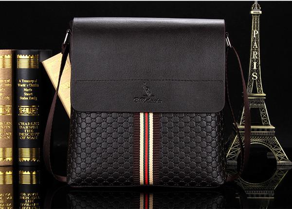 Wholesale- Fashion casual men's bag Paul shoulder bag men's backpack Messenger business leather vertical men's bag