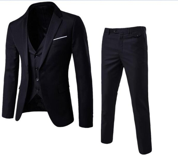 Nuovi Abiti da uomo Smoking dello sposo Groomsmen Wedding Party Dinner uomo ultimi pantaloni cappotto disegni Best Man Suits (Jacket + Pants + Vest)