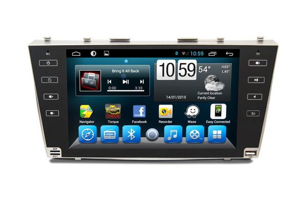 9.0 inch 1 Din for Toyota Car Dual DVD Player with GPS Navigation, IPOD, Support Bluetooth car dvd player