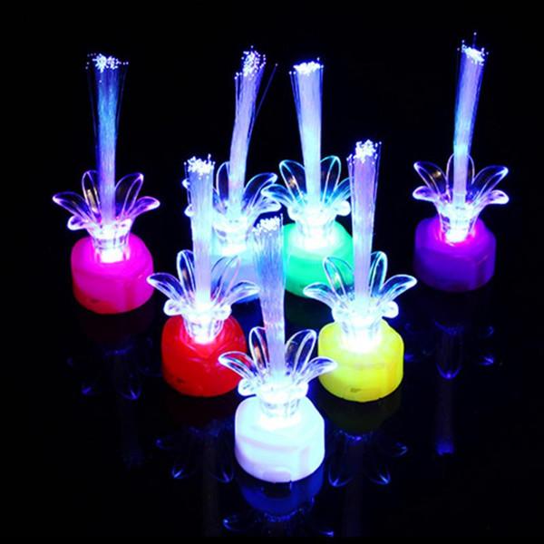 1 PCS Beautiful Romantic Color Changing LED Fiber Optic Night Light Lamp Battery Powered Small Light Christmas Party Home Decor