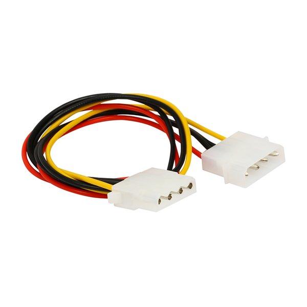 Toptan-14 inç Bilgisayar Güç Kaynağı PSU 12 V / 5 V 4 pins IDE Molex Dahili Güç Uzatma Kablosu Sabit Disk Disk HDD DVD CD-RW Combo