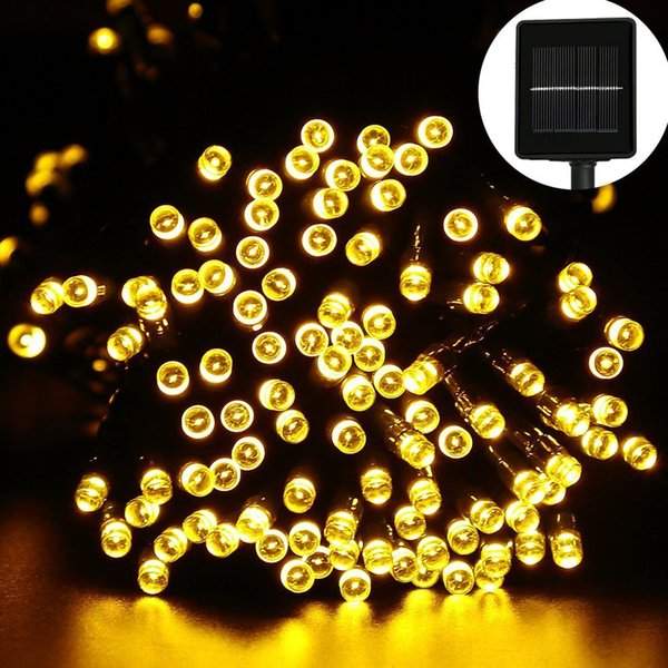 Top 200 LED Outdoor Solar Lamps LED String Lights Fairy Holiday Christmas Party Garlands Solar Garden Waterproof Lights