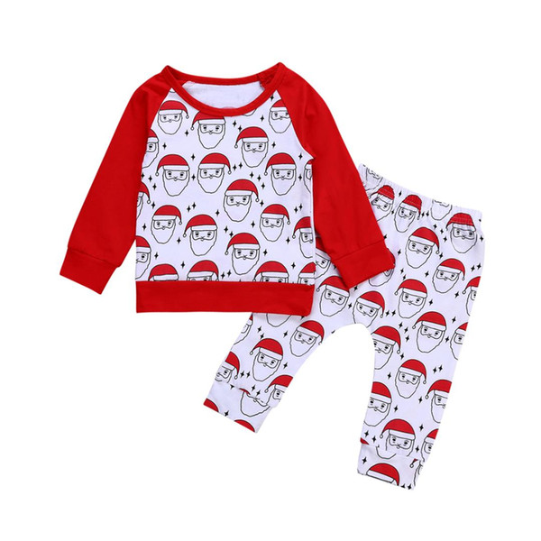 f148ae8a83ed8 2018 Pudcoco 2018 New Tollder Kid Baby Clothing Christmas Newborn Baby Boy  Girl Santa Claus Tops Long Pants Outfits Clothes Cute Cx From Callshe, ...