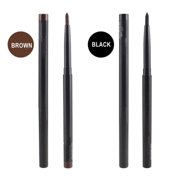 Brand Makeup M Automatic telescopic Eyebrown Pencil Highlighter Waterproof Eye Liner 2 Colors Black and Brown