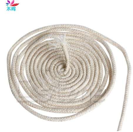 10M (33 ft) Braided Cotton Core Candle Making Wick For Oil Or Kerosene Lamps 4mm