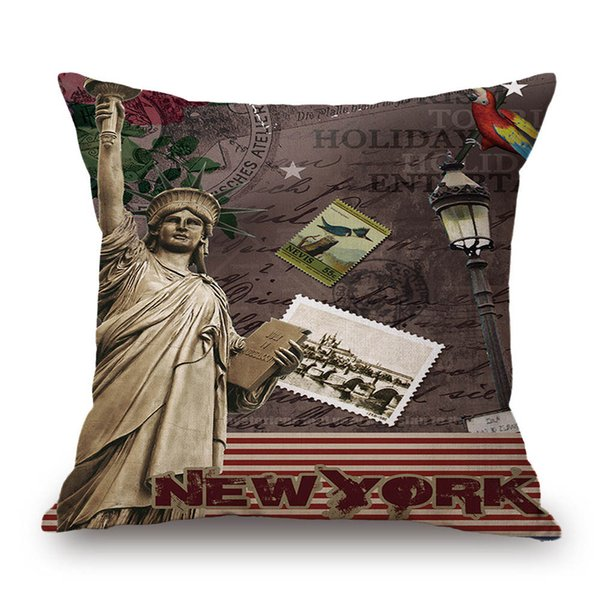 Manhattan Statue of Liberty New York City Decorative Throw Pillowcase Pillow cases & Covers For Chair Home Decorative FK3