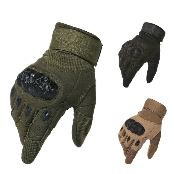 Tactical Gloves Army Outdoor Sports Motocycel Full Finger Gloves Paintball Shooting Combat Carbon Hard Knuckle Mittens