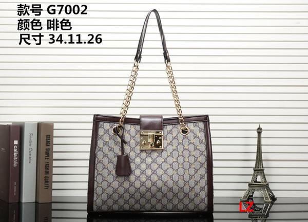 2018 new hot casual women's bag fashion luxury classic ladies PU handbag high-end atmosphere designer shoulder handbag