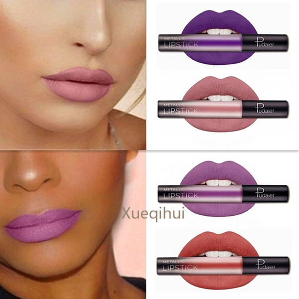 New Matte powder coral red purple gree Do not touch the cup fog face lipstick water can not afford to lose color lipstick