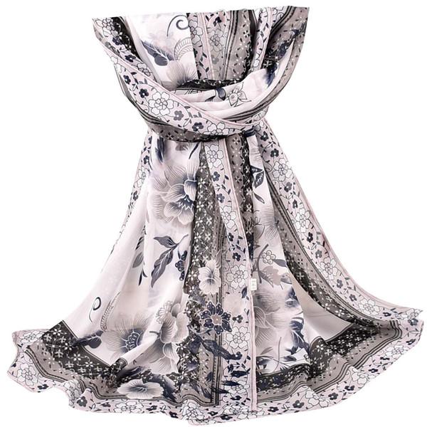 Compre Gran Bufanda Hijab Moda Mujer Bufanda De Paisley Impresión ...