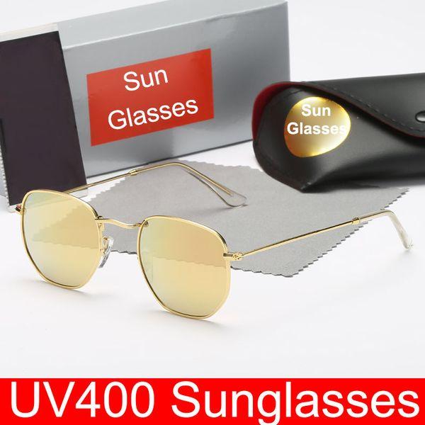 Hombres y mujeres Gafas de sol retro Gafas de sol de metal Revestimiento de moda Gafas de sol reflectantes Nuevas gafas Gafas de protección UV400 Sombras