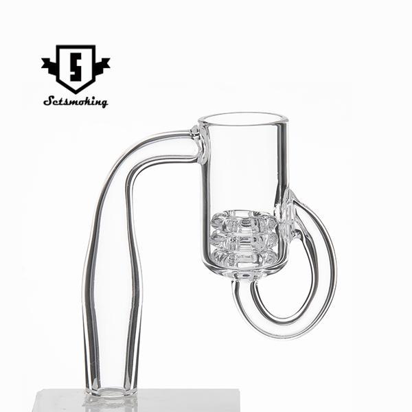 Diamond Knot Loop Recycler Quartz Banger Domeless Quartz Banger Nails Male Female 10mm 14mm 18mm for Glass Bong Oil Rigs