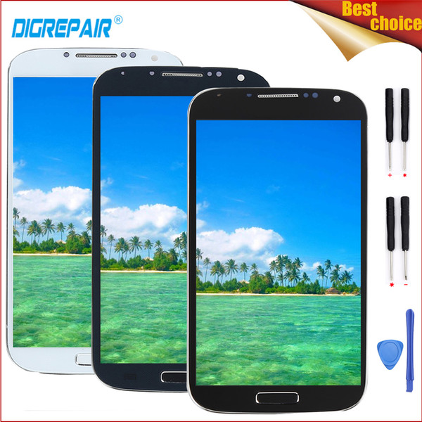 i9505 lcd For Galaxy S4 i9505 LCD Display Touch Screen Digitizer Frame For s4 display