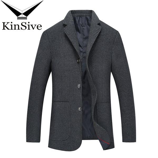 Nova Chegada Vetement Homme 2018 Blazer Moda Mens Casual Xadrez De Lã Dos Homens Blazer Jaqueta Coreano Clássico Mens Terno Casacos Casacos