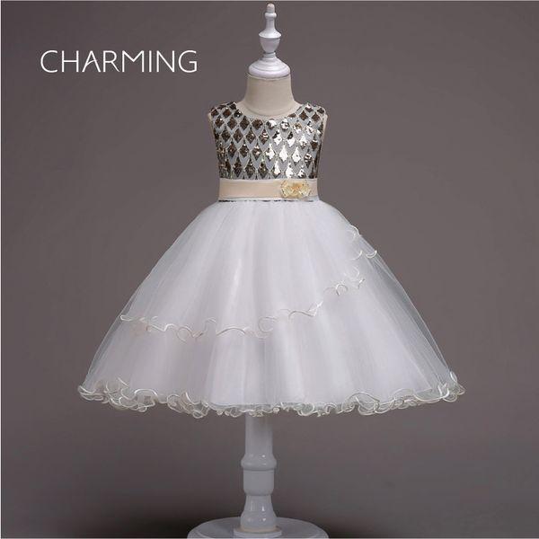 Sequined prom dresses Princess dresses for kids Short bridesmaids dresse s Festival costumes Mini dresse s fiesta fashion dresses