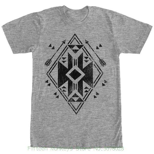 T-shirts 2018 Brand Clothes Slim Fit Printing Lost Gods Geometric Arrow Mens Graphic T Shirt