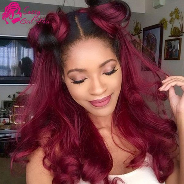 Brazilian Body Wave Weave 3pc Virgin Human Hair Extensions 1B/99J# Ombre Virgin Hair Products Peruvian Body Wave Malaysian Virgin Hair