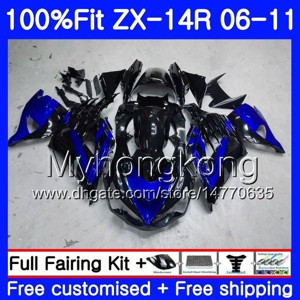 Injection For KAWASAKI NINJA ZX 14R 14 R ZX14R 06 07 08 09 10 11 223HM.20 ZZR1400 Blue black ZX-14R 2006 2007 2008 2009 2010 2011 Fairing
