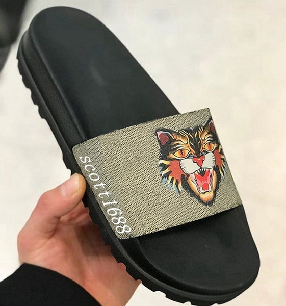 mens and womens fashion trek angry cat print rubber slide sandals flip flops with thick rubber sole adults unisex causal flats slippers