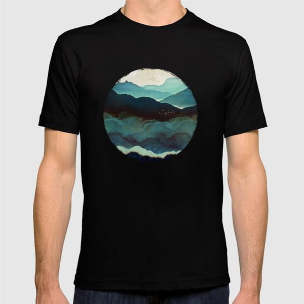 Новая футболка 2018 indigo-Mountains894310 Рубашка