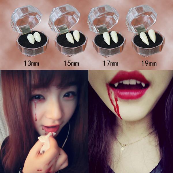 Keklle Vampir Diş, Fangs Protezleri Sahte Dişler Yanlış Dişler Cadılar Bayramı Partisi Cosplay Prop Dekorasyon Kostüm Aksesuar Nisan Şaka Günü, 6 Pi