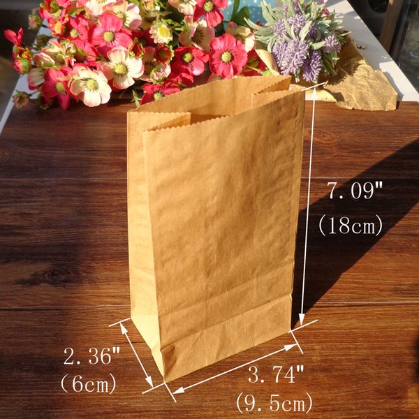 Event Party Gift Boxes 50pcs Stand up Kraft Paper Bags 18x9.5x6cm Kraft &White Favor Bag, Open Top Creative DIY Paper Bags