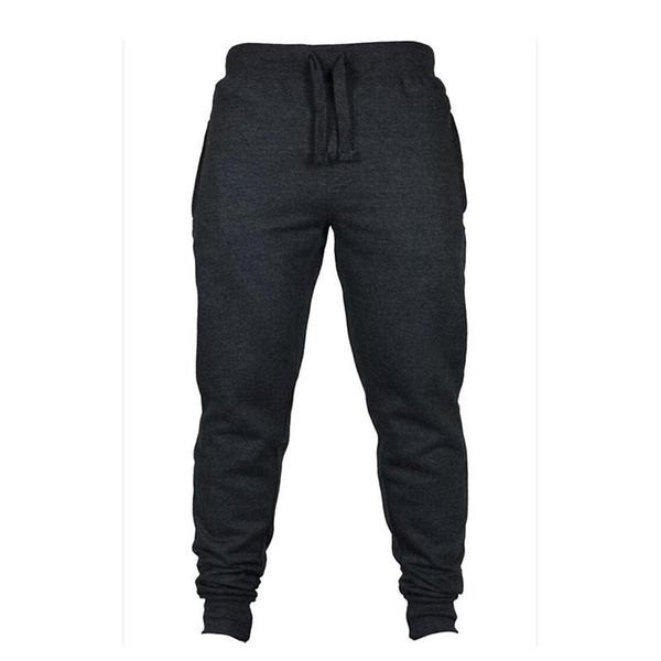 Wholesale-Warm Mens Thick Pants Bodyboulding Hip Hop Clothing Street Trousers Fitness Jogger Sweatpants Men Casual Slim Fit Pants C