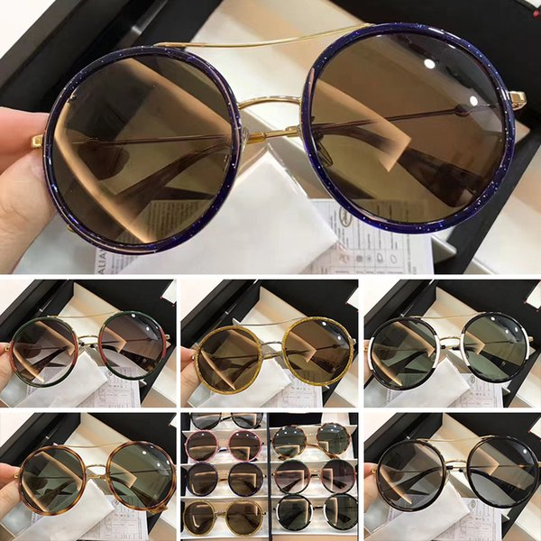 wholesale 0061 Men Women Luxury brand Sunglasses 0061s Square Frame Mosaic Shiny Crystal Colorful Diamond UV400 Lens g0061 With Original Box