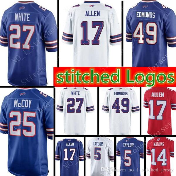 new style c6f4c 3512c 2019 27 Tre'Davious White 49 Tremaine Edmunds 17 Josh Allen Buffalo Bills  Jersey 25 LeSean McCoy 12 Jim Kelly Jerseys From Xmm_jerseys, $26.64   ...