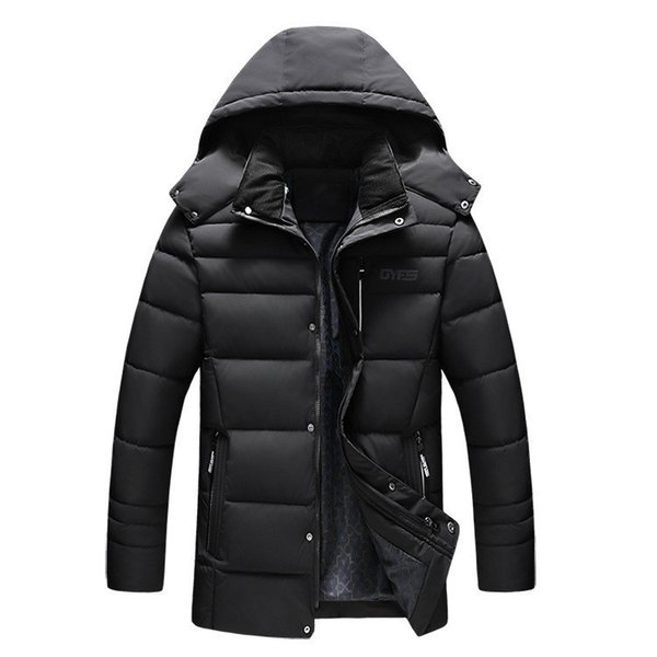 2018 Hooded Winter Jacket Men Parkas Cotton-padded Warm Jackets Man Coats Casual Loose Male Outerwear XL-4XL Plus Size Overcoat