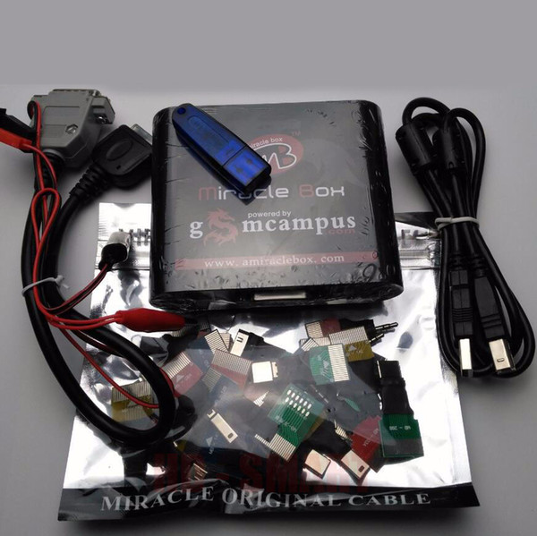 DHL OR EMS Free Shipping Original new Miracle box +Miracle key with cables (V2.48 hot update)for china mobile phones Unlock+Repairing unlock