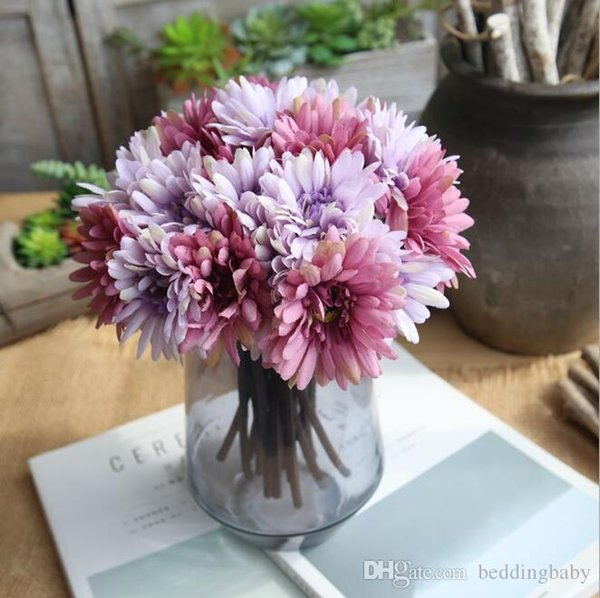 African Daisy Light pink Milk White Hydrangeas Colors Fake Flowers Elegant Gifts for Wedding Centerpieces Home Party Dinning Restaurant