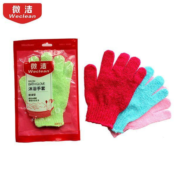 5 Pcs Fashion Color Shower Exfoliating Wash Skin Spa Foam Massage Scrubber Bathing Gloves