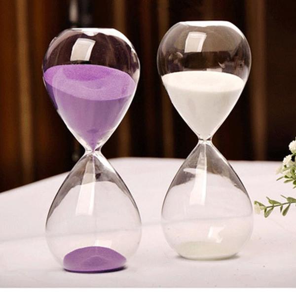 30 Mintes Transparente Glas Sand Sanduhr Sanduhr Timer Uhr Countdown Timing Wohnkultur ampulheta