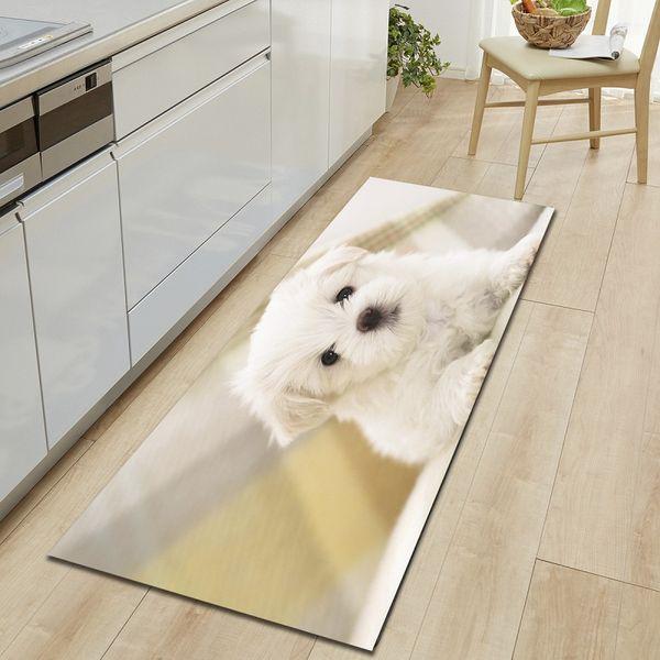 Dog Cats Printed Entrance Doormat Cartoon Long Floor Mats Carpets for Living Room Kitchen Bathroom Rugs tapetes para casa sala