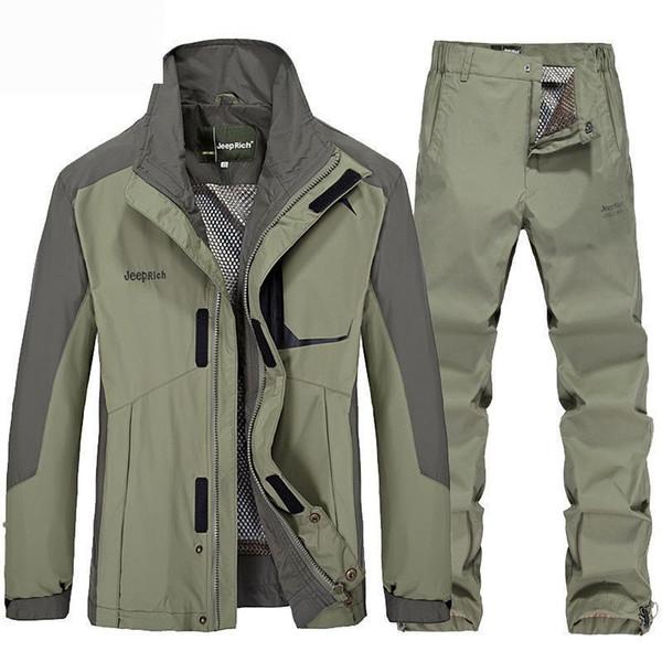2018 nueva primavera otoño traje de senderismo hombres chaqueta de trekking  pantalón para hombre chaqueta de pesca acampar al aire libre senderismo  deporte ... f3222635494