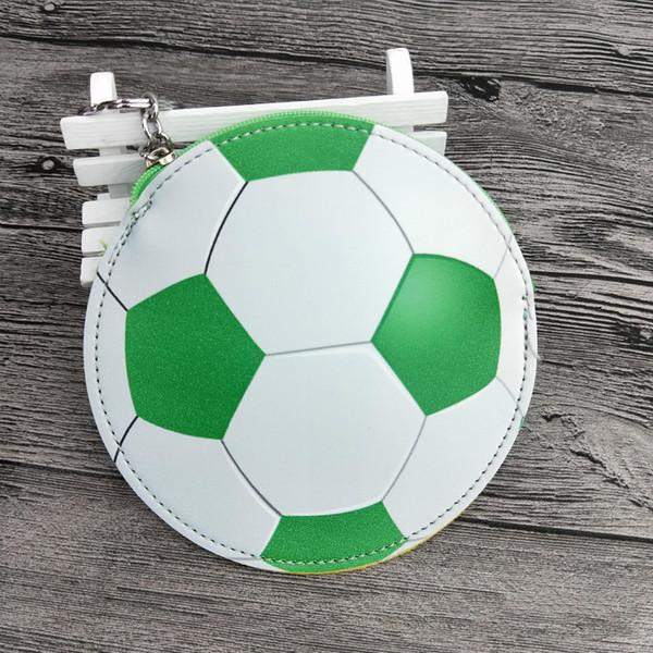 Bolsas de efectivo de fútbol Niños Niñas Diseñador Monedero PU fútbol béisbol forma Bolsa billetera Con llavero 13 * 13 cm