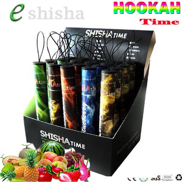 High quality shisha time disposable e cigarette Ecig vape pen 500 puffs fruit flavors Hookah time vape pen starbuzz vaporizer vapor mod